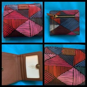 Multi Color Fossil Wallet